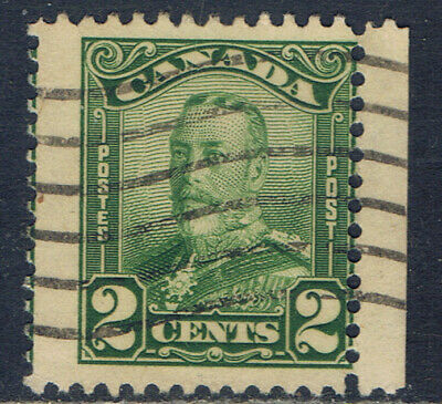 Canada #150(4) 1928 2 cent green KING GEORGE V SCROLL ISSUE SHIFTED to RIGHT