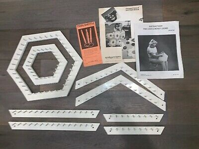 Vtg John Allen For Love & Money Looms Set Pattern Book Lap Weaving Hexagon +