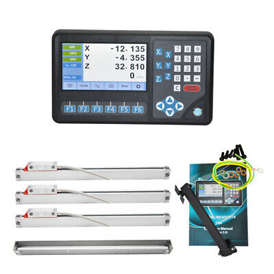 3 Axis LCD Digital Readout Dro with 3pcs 0-1100mm Linear Scale with RPM