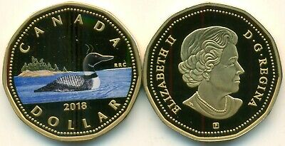 "Canada 2018 Fine Silver/Gold Plated Coloured Proof Loonie Dollar ""Rare, Rare"""