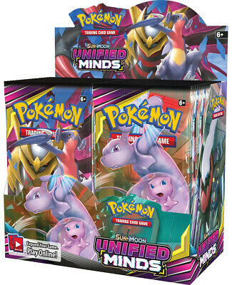 Pokemon TCG Unified Minds Booster Box 36 Booster Packs Sun & Moon PRESALE