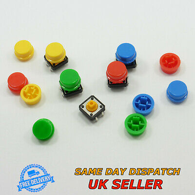 12x12x7.3mm Square Button 4pin B3F-4055 Tactile Switch with Cap Tact Momentary