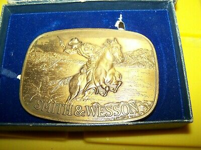 Vintage Smith & Wesson Authorized Belt Buckle - Used - Model 600 - Brass