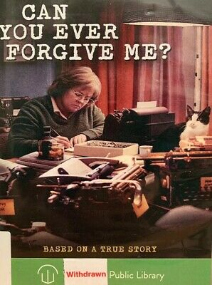 Can You Ever Forgive Me? DVD Melissa McCarthy, Ex-library