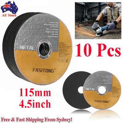 "10Pcs 115mm 4.5"" Cutting Disc Wheels Angle Grinder Cut Off Metal Steel Thin Flap"