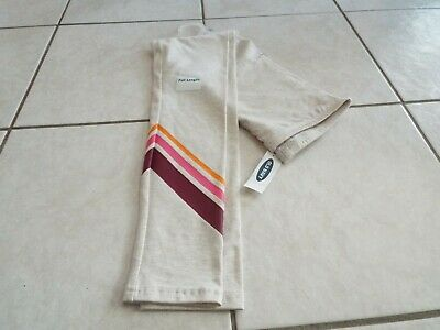 Girl Beige cotton stretch full length leggings size M 8 by Old Navy NWT free shp