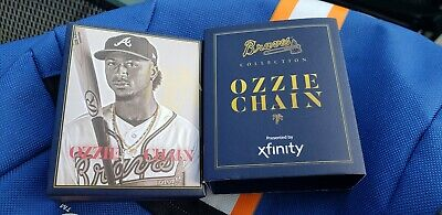 Ozzie Albies Replica Chain Necklace Atlanta Braves Giveaway 06/17/19