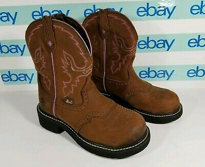 4df3bbc3e2d 🔥 WOMENS JUSTIN Gypsy Cowboy Boots Size 6.5 Brown Pink WKL9980 ...