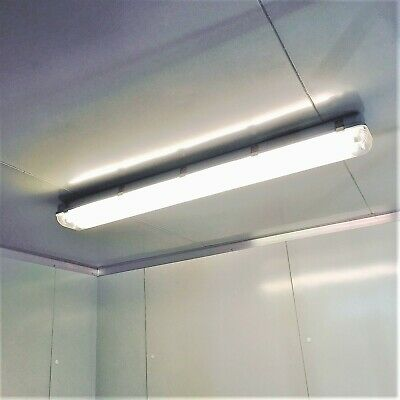 Coolroom Lights 36W Weatherproof LED Light Fittings Twin Tube 1200mm T8 w/Tubes
