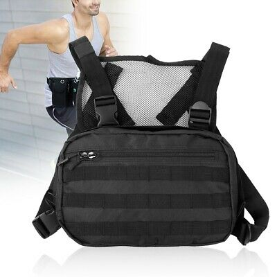 Walkie-talkie Vest Radio Pocket Chest Pack Front Pouch Pocket Harness Carry Bag