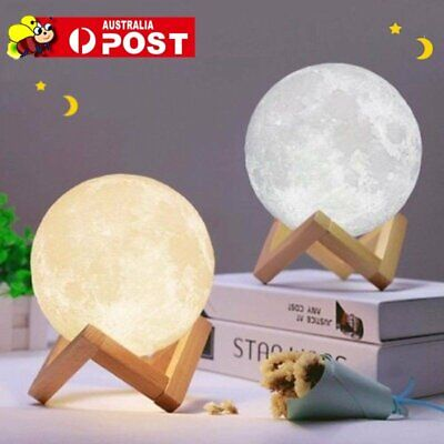 Dimmable 3D Magical Moon Lamp LED Night Light Moonlight Touch Sensor Lamp