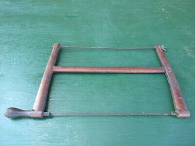 Antique Coping Fret Saw 2 Handles Turning Bow Saw