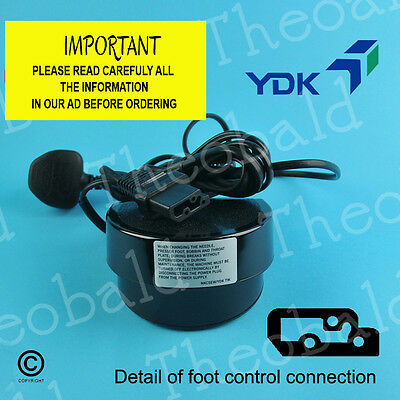Genuine Ydk Standard Sewing Foot Control/Pedal And Power Lead Fits Many Machines