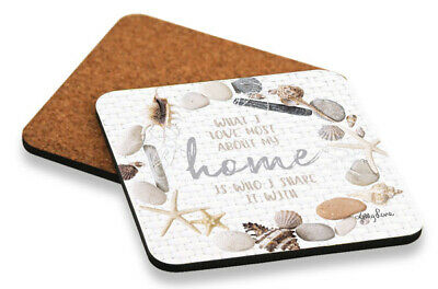 Drink Coasters Home Glossy Top Cork back Dining Kitchenware Tableware *Set/6 *