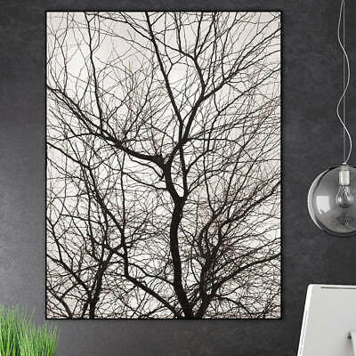 Scandinavian Nordic trees wall art canvas painting prints winter decor paintings