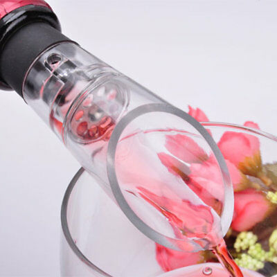 Acrylic Stainless Wine Aerator Pour Spout Bottle Stopper Decanter Aerating hB