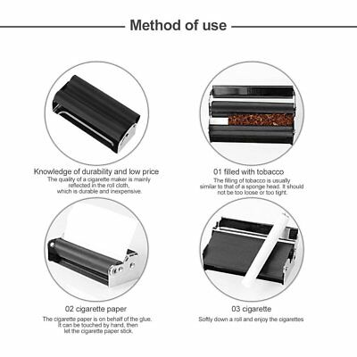 70MM Easy Use Manual Cigarette Rolling Machine Tobacco Injector Maker Roller fY