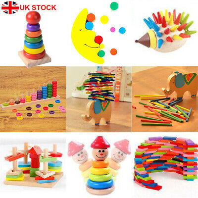 Baby Toys Child Montessori Wooden Puzzle Hand Grab Board Educational Jigsaw Toy