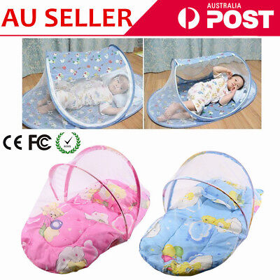 Baby Mosquito Net Infant Kids Foldable Canopy Tent Camping Travel Bed Cot Pop jL
