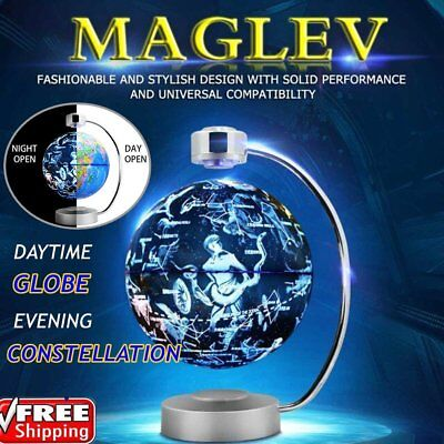 AU LED Magnetic Globe Levitation Electronic Floating Globe World Map Lighting Ki