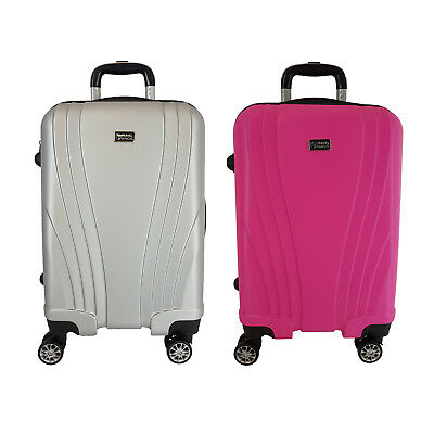 Trolley Cabina Bagaglio A Mano Ryanair Easy Jet Valigia 8 Ruote Low Cost 2 Pezzi