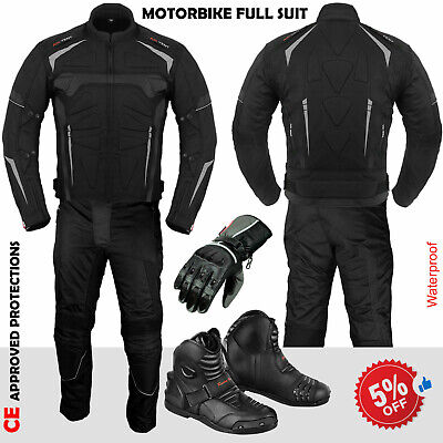 Motorcycle Motorbike Leather Shoe Gloves Racing Suit Cordura Jacket Pant Trouser
