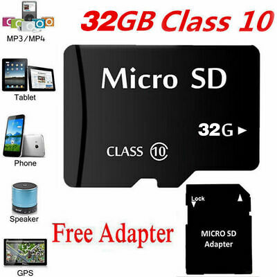 MICRO SD-Karte 32GB CLASS 10 MEMORY CARD 32GB MIT ADAPTER MICRO-SD CARD 32GB
