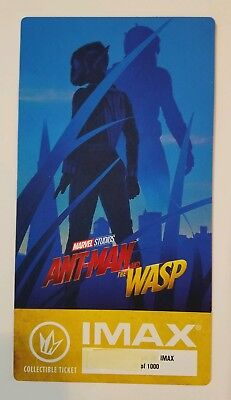Ant-Man and the WASP, MARVEL STUDIOS, IMAX Collectible Ticket # out of 1000