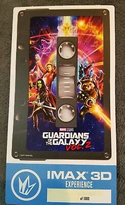 Guardians of the Galaxy Vol. 2, Regal IMAX 3D Collectible Ticket # out of 1000