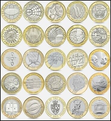 COMMEMORATIVE  £2 TWO Pound Coins 1986 -2018 Choice of Year + RARES - CIRCULATED