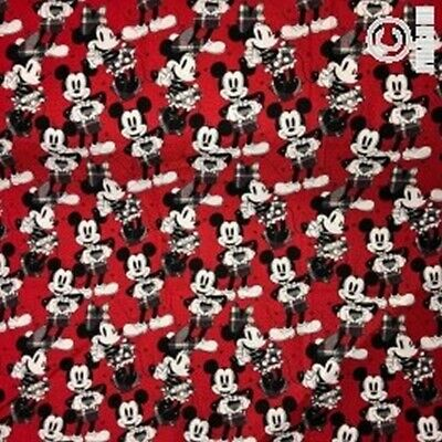 100/% Cotton 37770-103 NUTEX FABRIC Disney Mickey Mouse Expressions