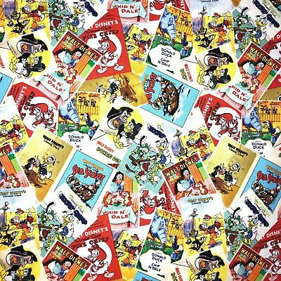 Disney's Classic Vintage Donald Duck Movie Posters Fabric