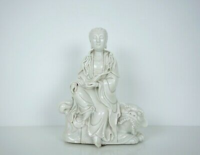A Blanc De Chine Figure of Manjushri
