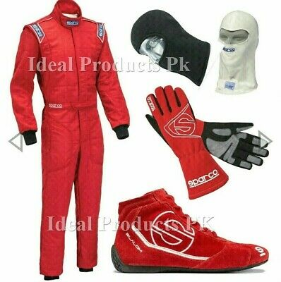 SPARCO GO Kart Race Suit CIK FIA Level 2 Approved Shoes +free gift Glove+h.sock
