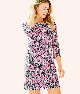 d0ed89c544 New Lilly Pulitzer Bay Cut Out Back Dress Hibiscus Pink Hangin With My Boo  XS