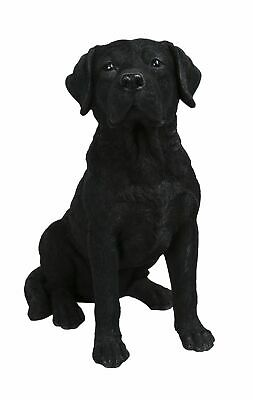 Black Labrador Dog - Lifelike Garden Ornament - Indoor or Outdoor Real Life NEW
