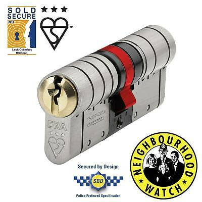 ERA Fortress TS007 3 Star High Security Euro Cylinder - UPVC Doors - 50MM