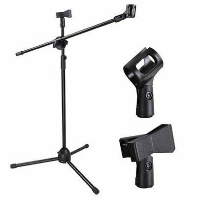 Microphone Boom Mic Clip Stand Holder Studio Arm Adjustable Foldable Tripod UK