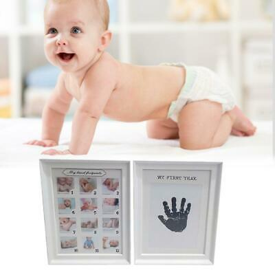 Footprint Baby Newborn Handprint Imprint Clean Touch Ink Pad Photo Frame Kit