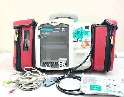 Philips Mrx Heartstart Aed Defib + Pacer, 12 Lead Ecg, Printer M3536A 9/2020 Pad