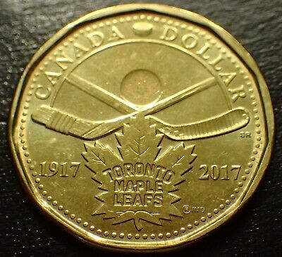 CANADA 2017 Toronto Maple Leafs Loonie UNCIRCULATED