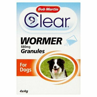Bob Martin Clear Wormer Granules for Dogs & Puppies, 4 Sachets
