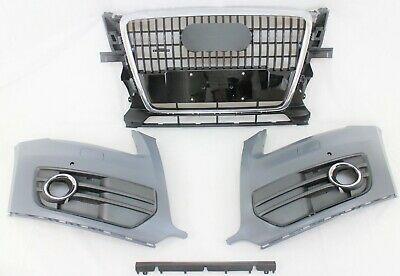 Audi Q5 front bumper grille with license plate holder 2009-2012 AU1200126 new