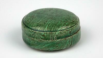 Antique 18/19thC Chinese Qing Period Faux Bois Stoneware Cosmetic Covered Box