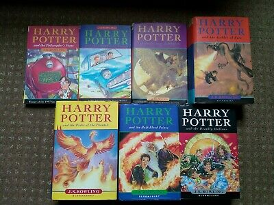 Complete Set of 7 HARRY POTTER Bloomsbury First Edition BOOKS by J K Rowling