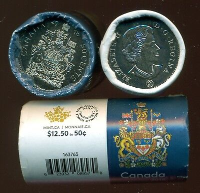 Coat of Arms 25 X 50 cent, Special Blue Wrap Roll 2018 Issue