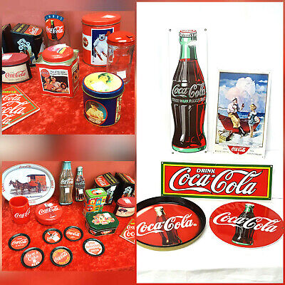 "Dollhouse Miniatures Metal Sign Advertising Coke Drink COCA COLA 3/"" x 1/"""