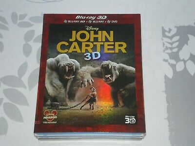 Blu-ray John Carter 3D + 2D FOURREAU CARTONNE COFFRET 3 DISQUES