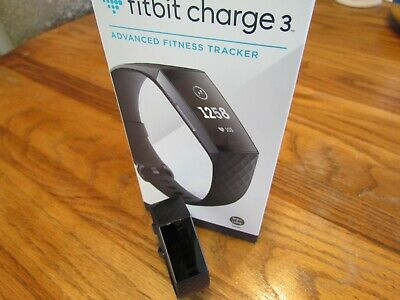 Fitbit Charge 3 Fitness Tracker - Black/Graphite Aluminum (FB409GMBK) NEW