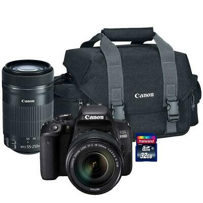 Canon EOS 800D 24.2MP DSLR Camera with Canon 18-55mm and 55-250mm Lenses Kit